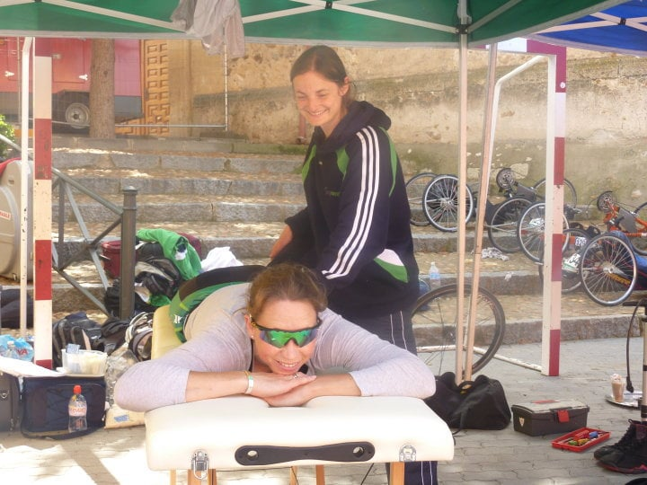 Cycling Injuries Maple Clinic providing On-Site Sports Massage