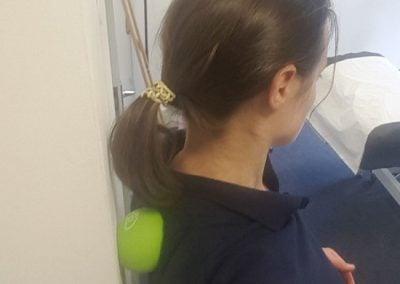Self massage between shoulder blades